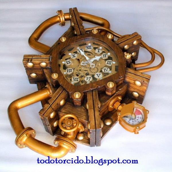Настенные часы в стиле стимпанк