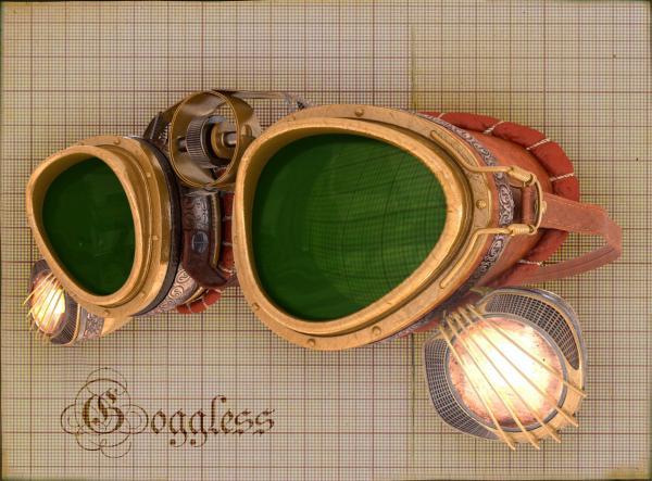 """Гоглы для конкуса  """"Steampunk-Vision 3D"""""""