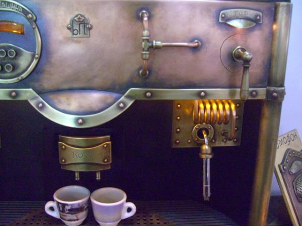 стимпанк кофемашина