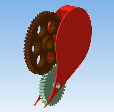 3D - сердце с шестернями (Фото 5)