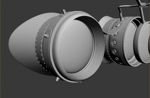 Конкурс Steampunk-Vision 3D. Гогглы в 3d. Переключение на текстуринг. (Фото 4)