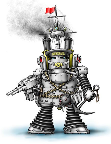 Представитель отечественных стимпанк-роботов