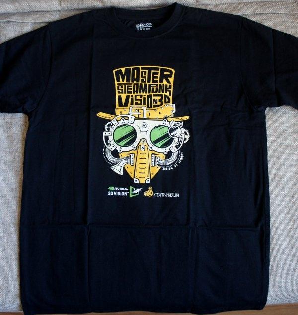 "Пятый аукцион силы - футболка конкурса ""Steampunk-Vision 3D"" от NVIDIA"