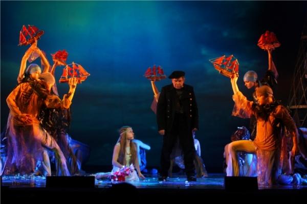 Сцена из мюзикла Алые паруса в Свердловском государственном академическом театре музыкальной комедии
