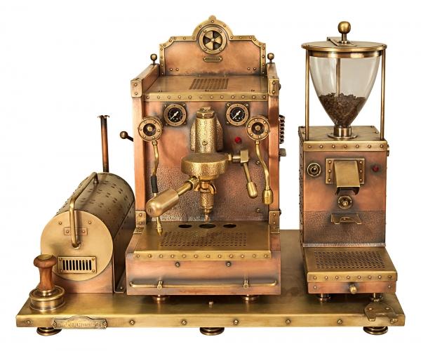 Кофемашина из меди - СтимПанк машина для приготовления кофе и капучино!