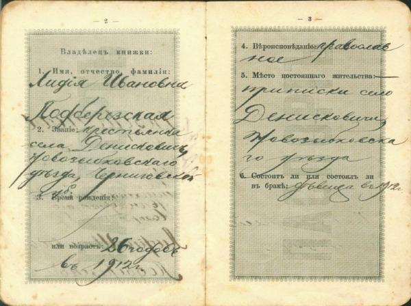 Паспорт царской России (Фото 2)