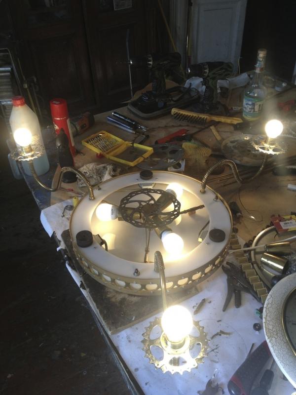 Люстра-часы (Фото 9)