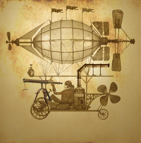 Дирижабли и Воздушные шары....... (история одного стимпанк проекта)