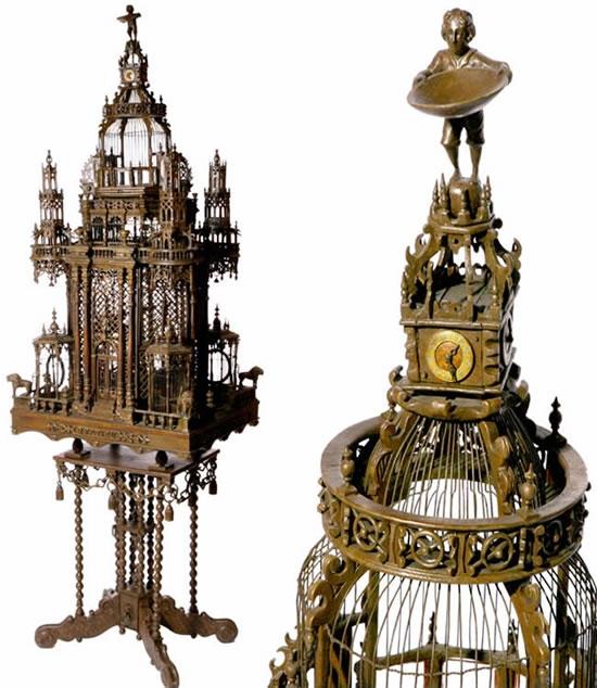 Викторианский особняк для попугайчиков