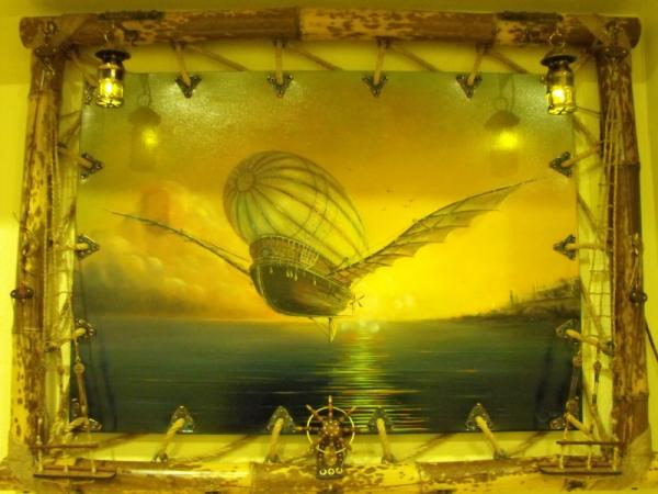 Рама для картины - портал в мир стимпанка. (Фото 62)