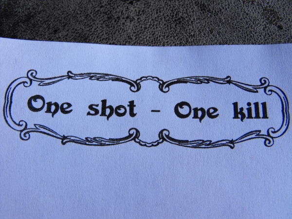One shot - one kill!