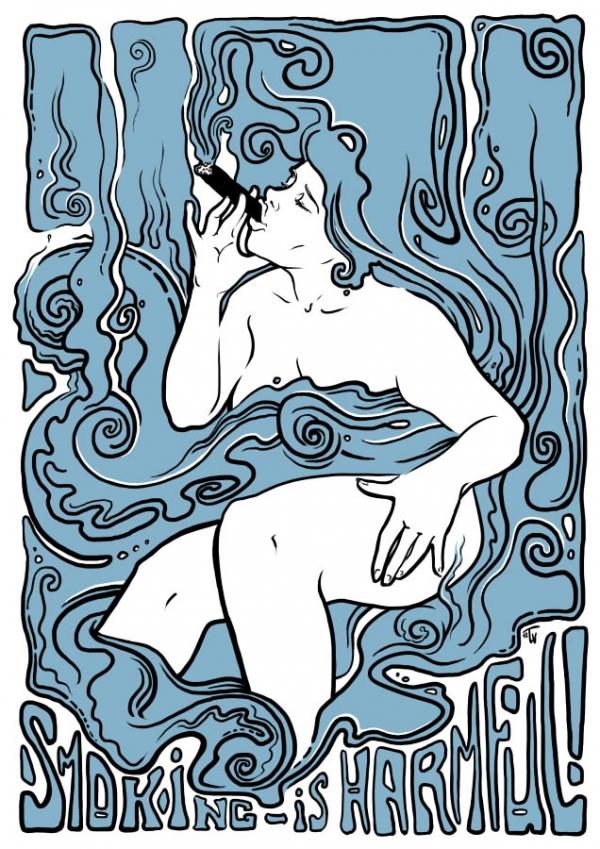 антитабачный плакат