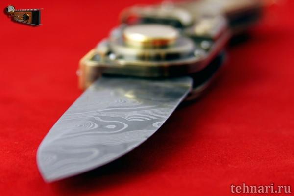 Электро-механический самооткрывающийся нож стимпанк-диверсанта Стимурай