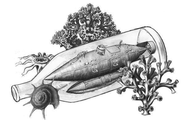 Подводная лодка в бутылке