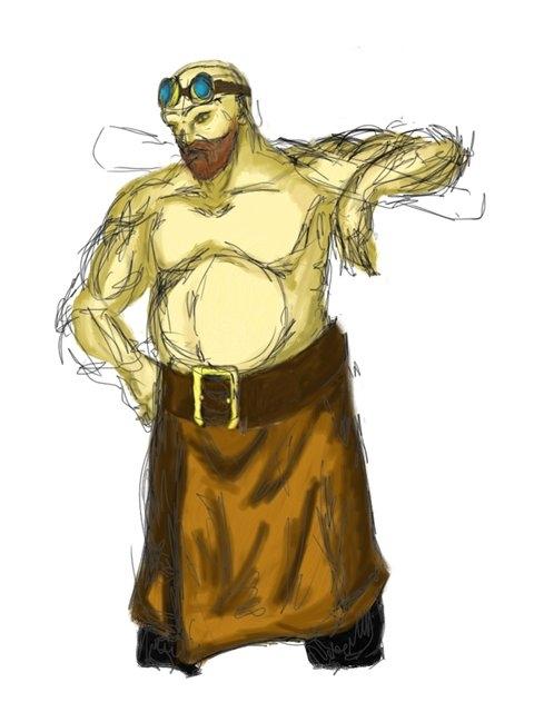 Концепт-арт персонажа вселенной Викториум. Владко Ковач. (Фото 3)
