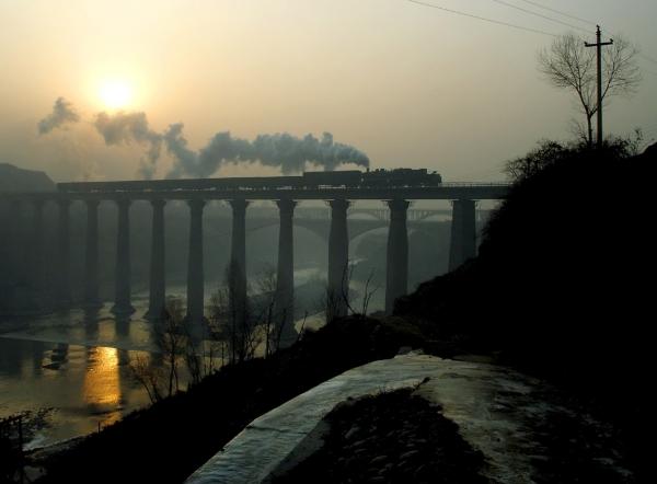 Паровозы в Китае. (Фото 7)