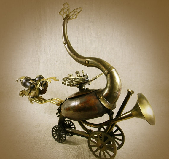 """QUIRK - The Steampunk Baby Dragon - Robot Assemblage""  by Reclaim2Fame (Фото 5)"