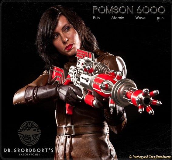 POMSON 6000 SUB ATOMIC WAVE GUN (Dr. Grordbort's)