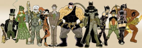 SteamPunk Batman and Co. (by Fhiacha)