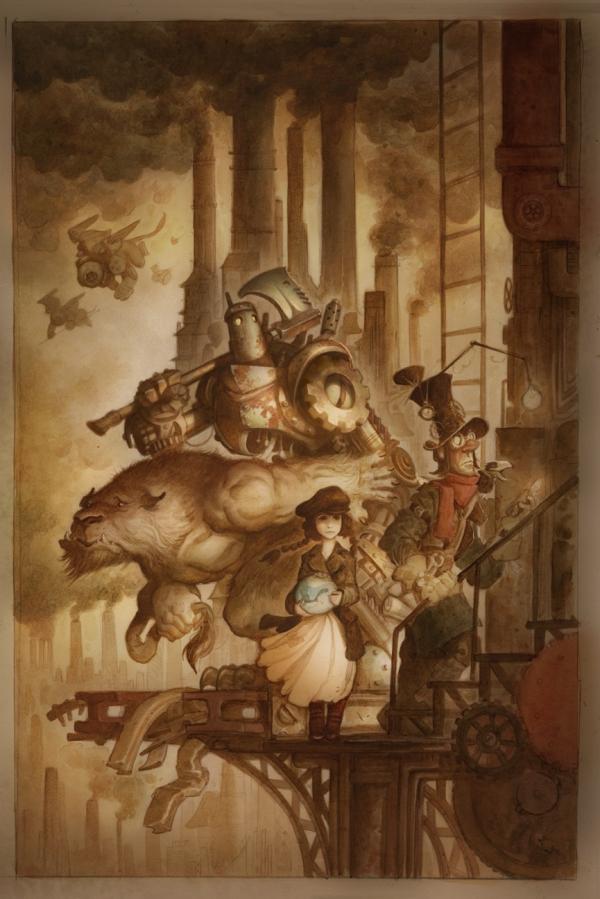 Стимпанк иллюстрации Волшебник из страны Оз, от Джастина Жерара (Фото 2)