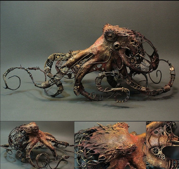 Octopus with fish