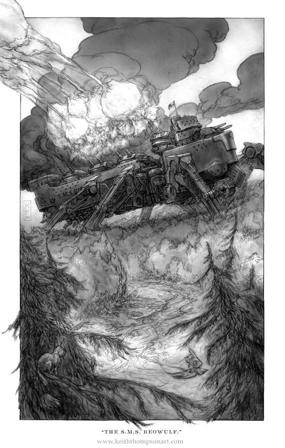 """Кeith Тhompson - рисунки в стиле """"стим"""""""". (Фото 60)"""
