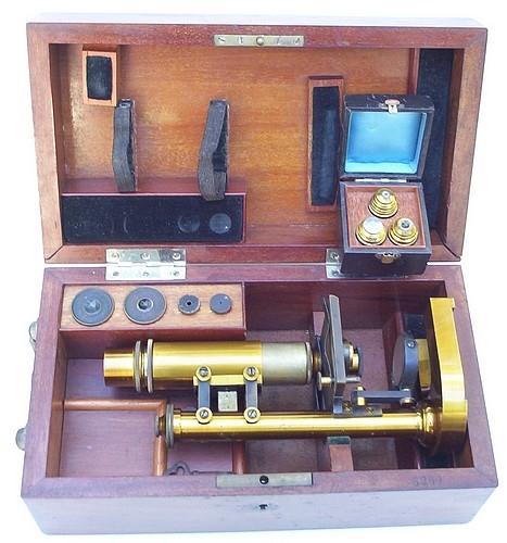 Старинные микроскопы. (Фото 44)