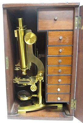 Старинные микроскопы. (Фото 25)