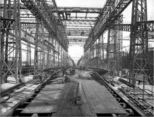 """Фотолетопись строительства """"Титаника"""". (Фото 3)"""