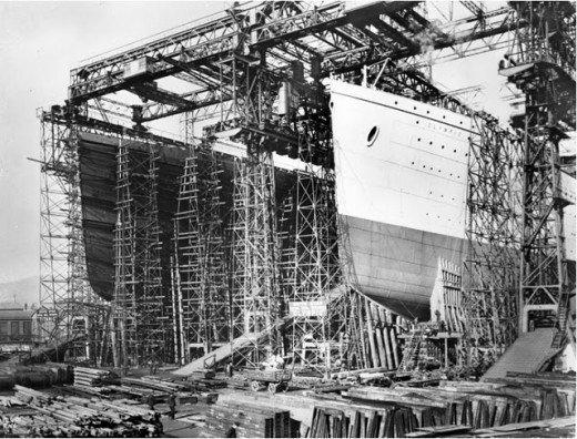 """Фотолетопись строительства """"Титаника"""". (Фото 9)"""