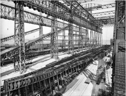 """Фотолетопись строительства """"Титаника"""". (Фото 4)"""