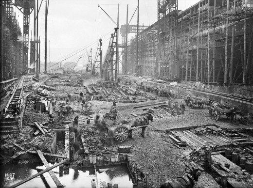 """Фотолетопись строительства """"Титаника"""". (Фото 2)"""