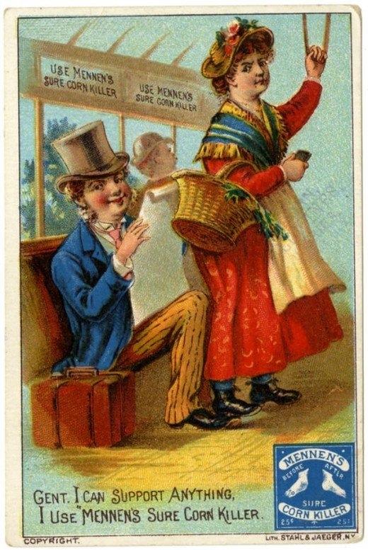 Рекламные открытки на рубеже веков . (Фото 45)