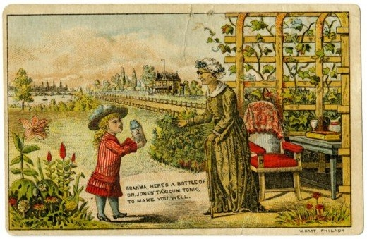 Рекламные открытки на рубеже веков . (Фото 40)