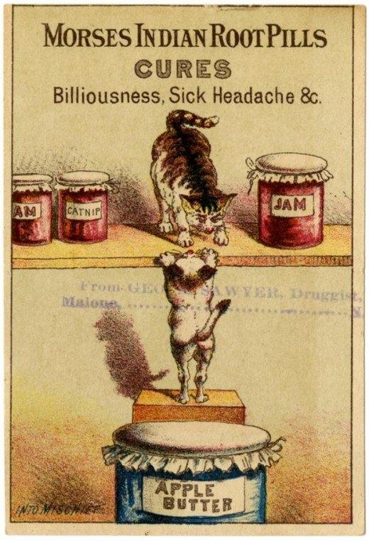 Рекламные открытки на рубеже веков . (Фото 16)