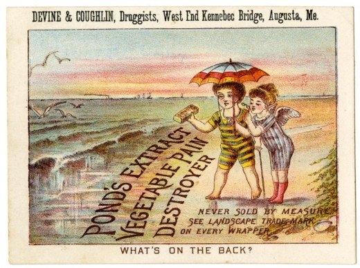 Рекламные открытки на рубеже веков . (Фото 47)