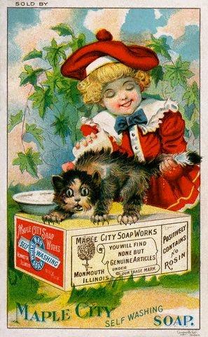 Рекламные открытки на рубеже веков . (Фото 65)