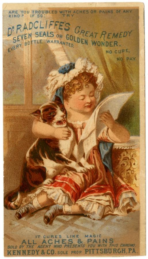 Рекламные открытки на рубеже веков . (Фото 43)