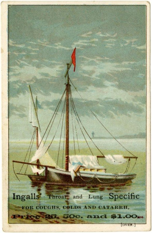 Рекламные открытки на рубеже веков . (Фото 10)