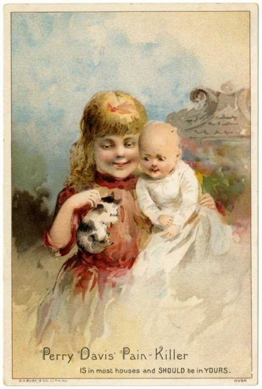 Рекламные открытки на рубеже веков . (Фото 20)