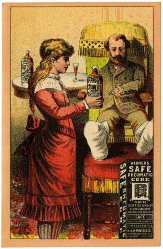 Рекламные открытки на рубеже веков . (Фото 26)