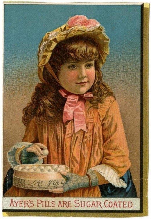 Рекламные открытки на рубеже веков . (Фото 27)