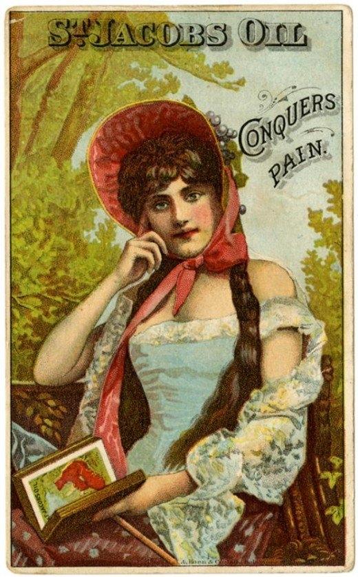 Рекламные открытки на рубеже веков . (Фото 22)
