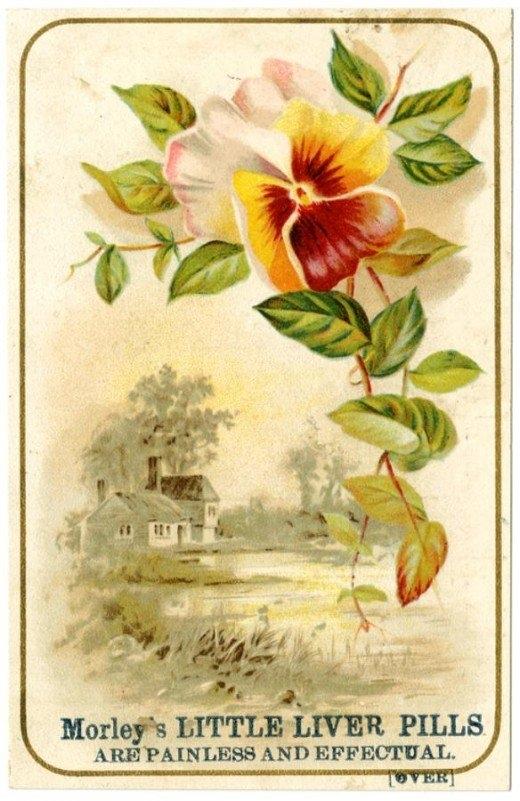 Рекламные открытки на рубеже веков . (Фото 15)
