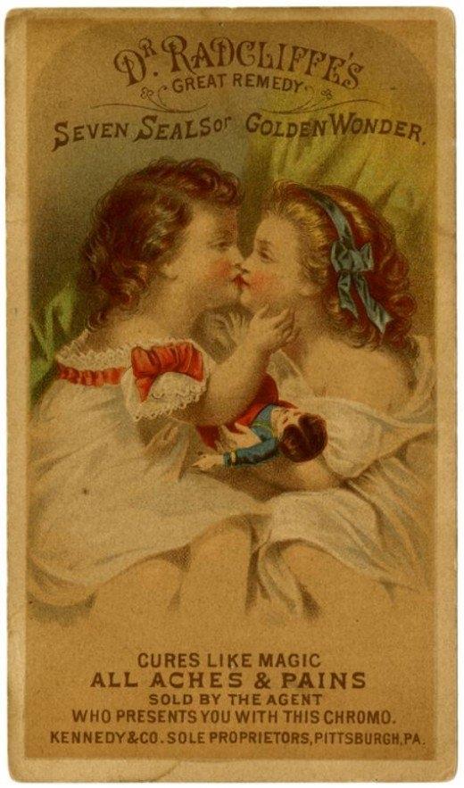 Рекламные открытки на рубеже веков . (Фото 44)