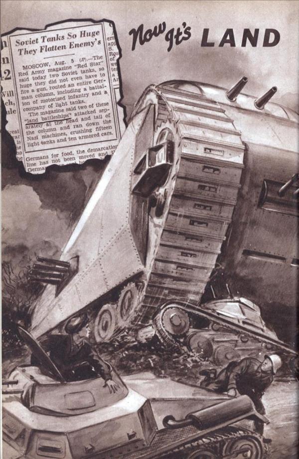Сухопутные монстры. Война на страницах газет. (Фото 26)