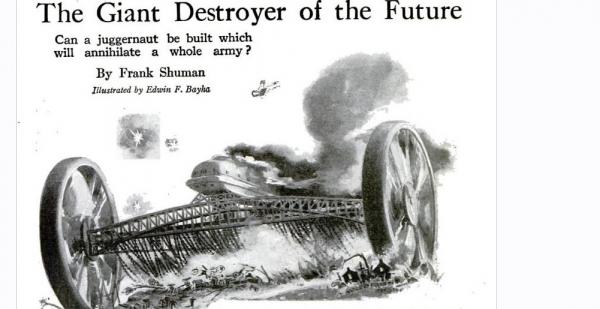 Сухопутные монстры. Война на страницах газет. (Фото 22)