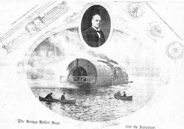 """Frederick Augustus Knapp's """"roller boat"""" . Или к чему приводит обожание королевы Виктории."""
