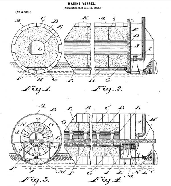 """Frederick Augustus Knapp's """"roller boat"""" . Или к чему приводит обожание королевы Виктории. (Фото 5)"""