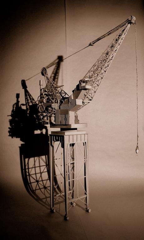 Daniel Agdag - поэзия бумаги, скульптура из картона. Или кто сказал, что замки должны быть воздушными? (Фото 14)